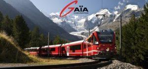 trein met Gaïa logo