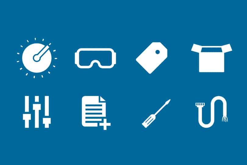 logo's extra diensten die Elipse uitvoert aan elektronische voedingen